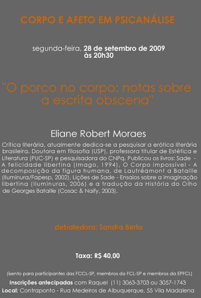 A Escrita Obscena_Eliane Robert Moraes
