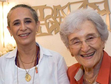 Maria Betânia e professora Cleonice Cleonice Berardinelli, na FLIP, em Parati